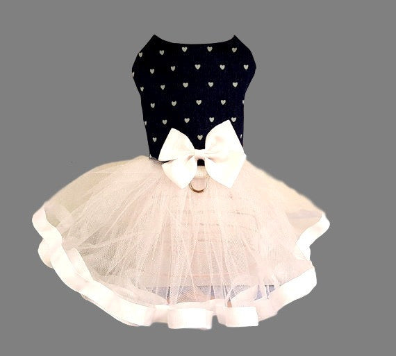 Denim and Tulle Dog Tutu Dress