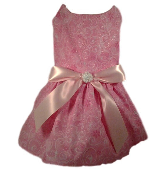 Pink Swirls Dog Dress