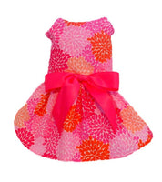 Pink Flowers Dog Dress