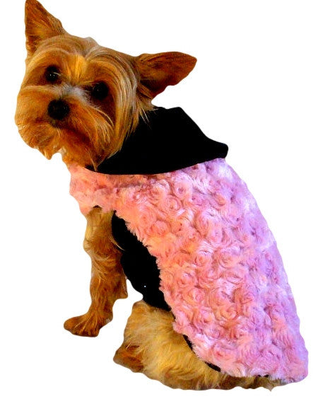 Pink Fur Coat - Chic Doggie Boutique  - 1