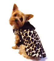 Cheetah Print Fur Coat - Chic Doggie Boutique  - 1