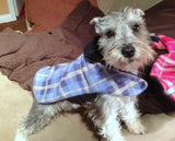 Blue Plaid Fleece Coat - Chic Doggie Boutique  - 1
