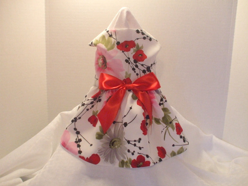 Red, Black and Pink Floral - Chic Doggie Boutique  - 1