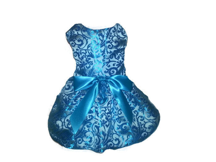 Teal Brocade - Chic Doggie Boutique  - 1