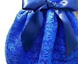 Satin and Lace in Royal Blue - Chic Doggie Boutique  - 2