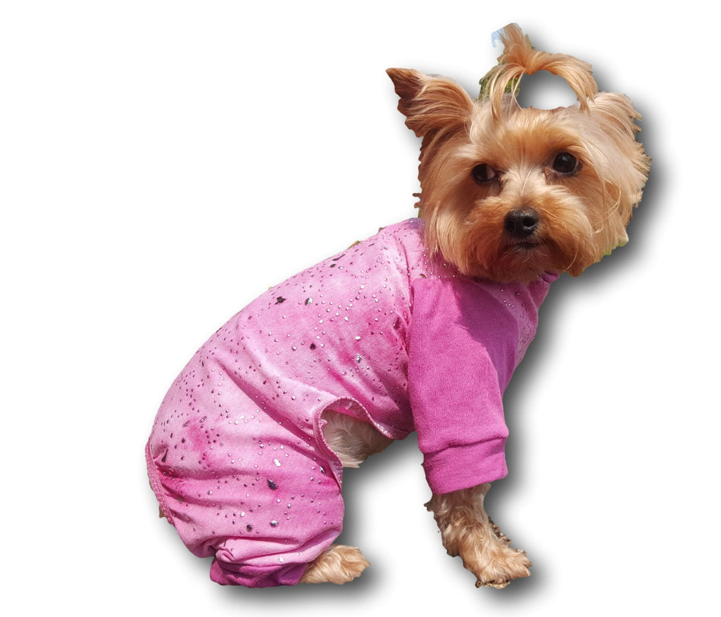 Pink Knit with Silver Sparkles - Chic Doggie Boutique  - 1
