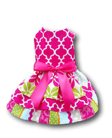 Hot Pink with Triple Layered Skirt - Chic Doggie Boutique  - 1