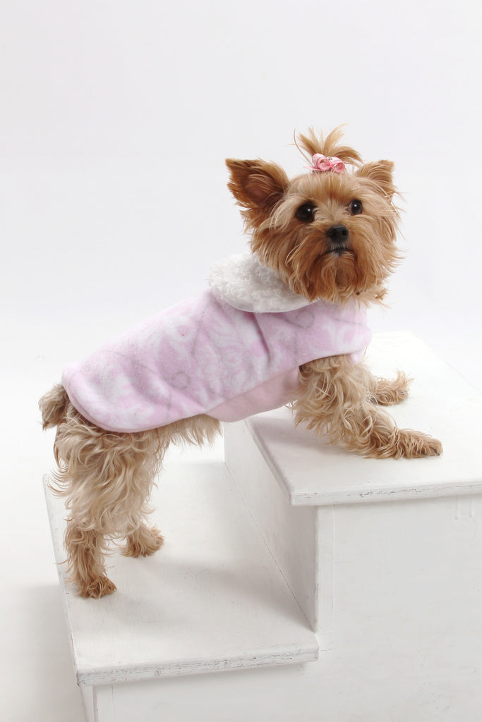 Pink Fleece Coat - Chic Doggie Boutique  - 1