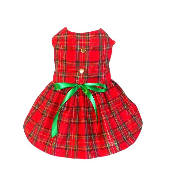 Plaid Christmas Dress - Chic Doggie Boutique