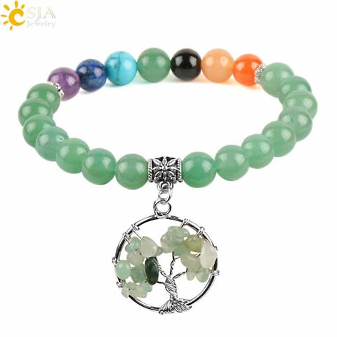 Tree of Life Natural Stones Bracelet