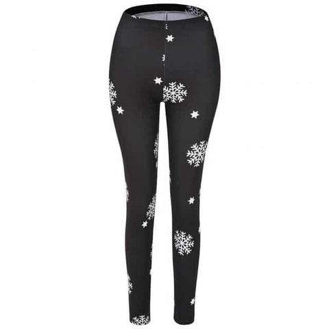 Casual Snowflake Yoga Leggings