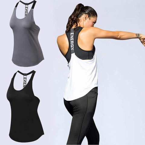 "Sleeveless ""Energy"" Workout Top"