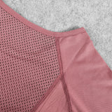 Long Sleeve Quick Dry Jersey Mesh Gym Top