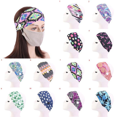 Ear-Saving Yoga Headband Mask Holder
