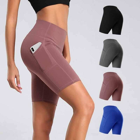 High Waist Yoga Short + Phone Pocket