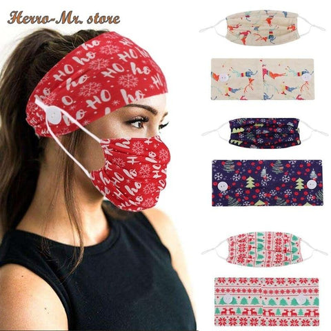 2-Piece Holiday Mask & Yoga Headband Set