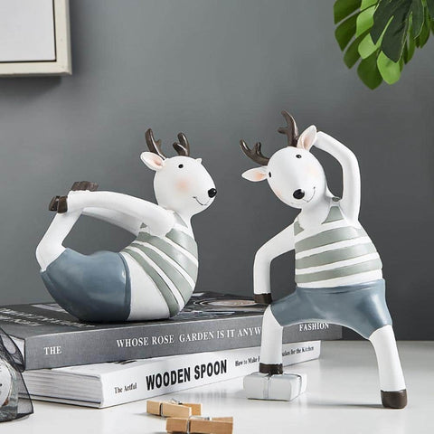 Yoga Deer Home Decor