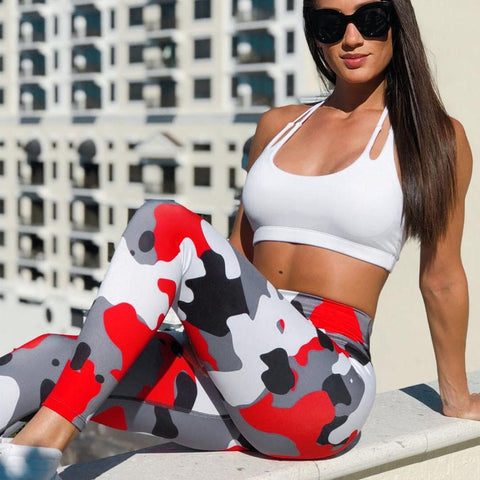 Fire Camo Yoga Pants