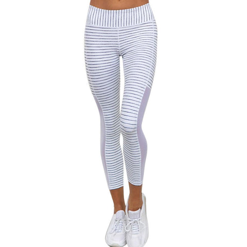 White Accent Yoga Pants