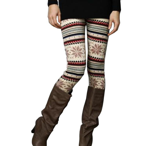 Aspen Snowflake Winter Fleece Lined Leggings