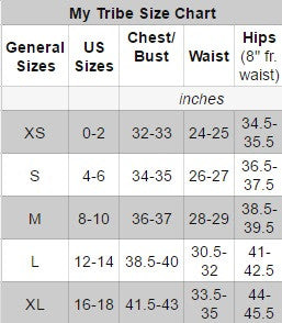 Size Chart My Tribe Clothing Designer For Women Leather Cashmere