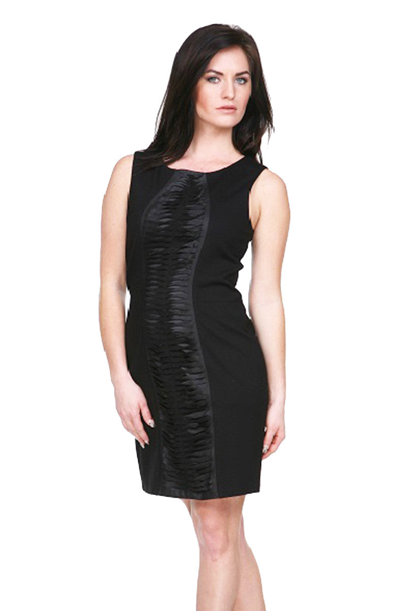 ba66d01aace SLEEVLESS PINTUCKED LEATHER DRESS MY-TRIBE-CLOTHING FASHION WOMEN ...