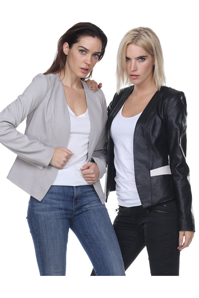 MT559 Opened Leather Insert Jacket My Tribe Clothing designer women,