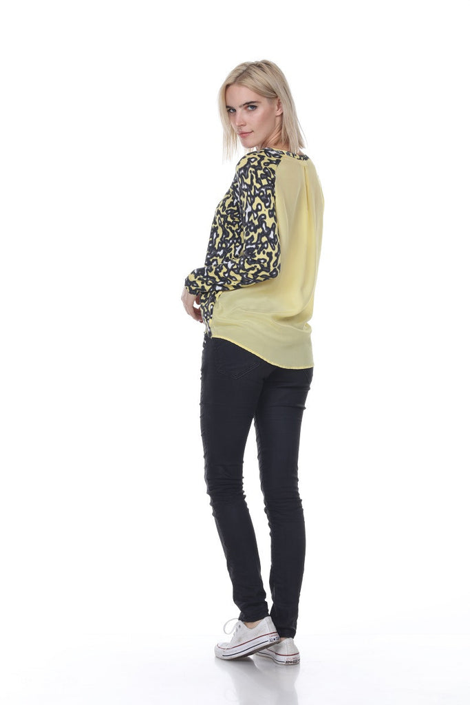 SW2063 Animal Print Hi Lo Scoop Neck My Tribe Clothing designer women;