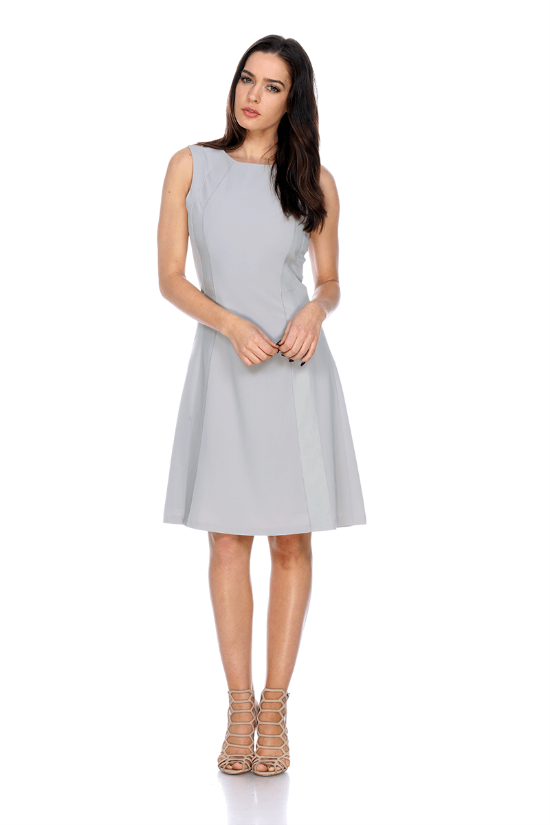 Lmtw07 Flare Dress With Insert Leather My Tribe Clothing Women My
