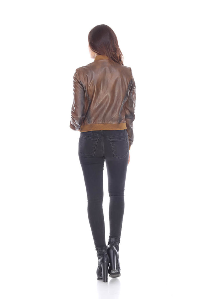 MT1484 Leather bomber My Tribe Leather Clothing