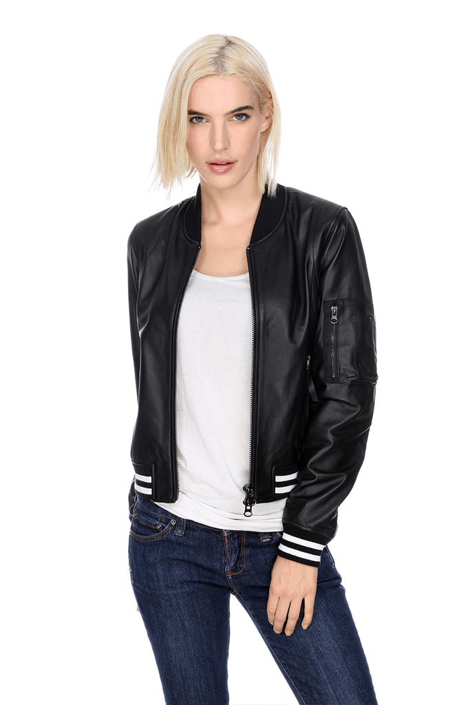 MT150N Jacket My Tribe Clothing designer for women, leather cashmere