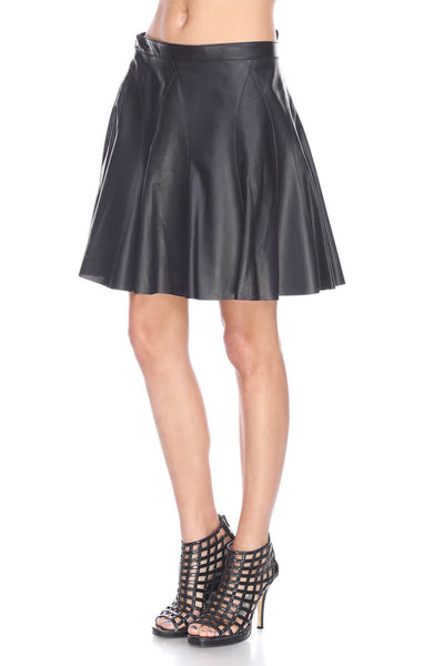 MTS261 Flare leather skirt My Tribe Leather Clothing