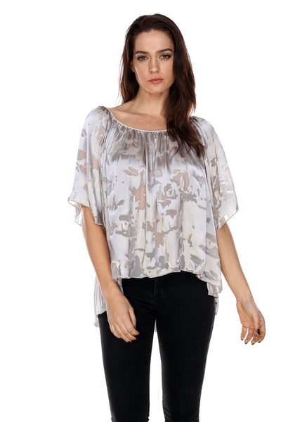 MTT03 Silk Peasant Blouse My Tribe Clothing designer for women, silk.