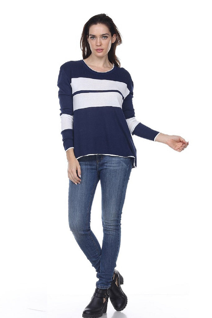 SW2071 Striped Scoop Neck My Tribe Clothing designer for women,