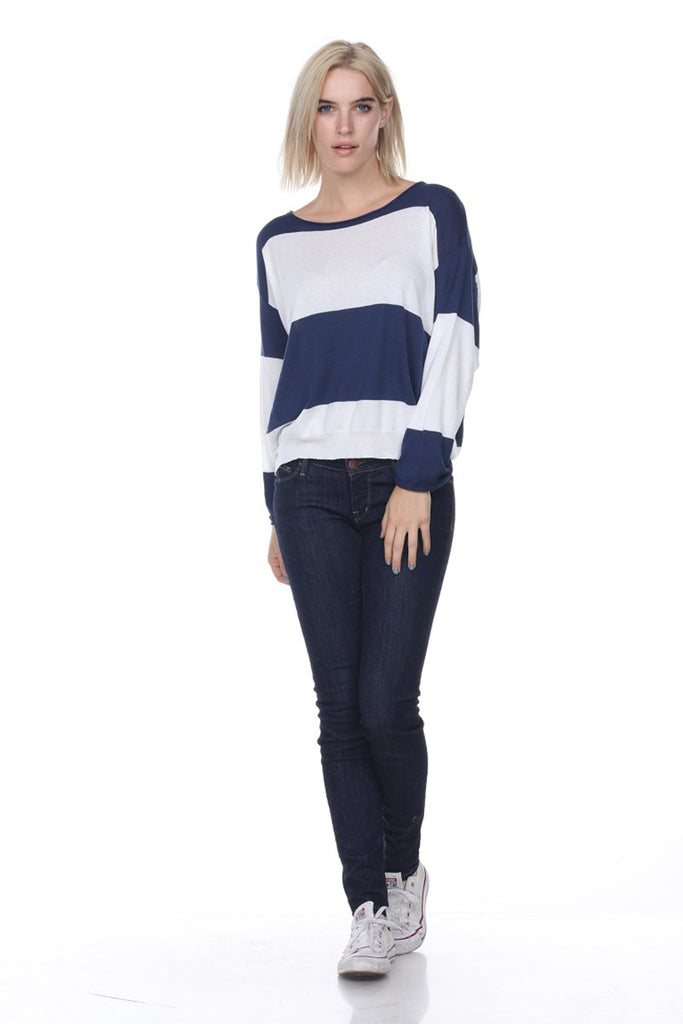 SW2072 Cropped Stripes My Tribe Clothing designer for women, leather;