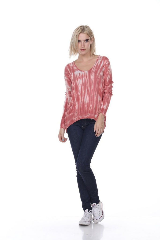 SW2078 Hi Lo Tie Dye My Tribe Clothing designer for women, leather.