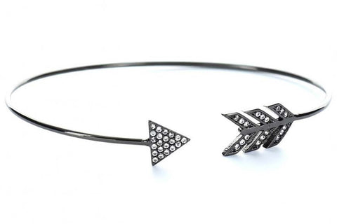 Arrow of Peace Bangle (Black)