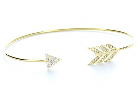 Arrow of Peace Bangle (Gold)