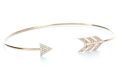 Arrow of Peace Bangle (Rose Gold)