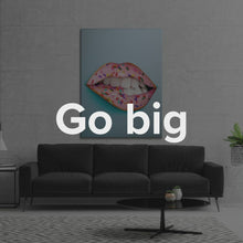 "Load image into Gallery viewer, ""Donut Lips"" Canvas Art by IKONICK"