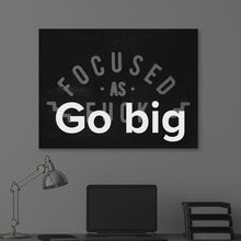 "Load image into Gallery viewer, ""Focused As Fuck"" Gary Vee Motivational Canvas Wall Art by Ikonick"