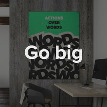 "Load image into Gallery viewer, ""Actions Over Words"" Motivational Canvas Art by IKONICK"