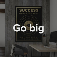 "Load image into Gallery viewer, Framed Modern/Pop Culture Canvas Wall Art Motivational Quote Canvas Office Art ""Success Marks The Spot"" by IKONICK"