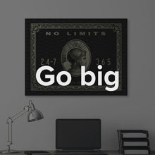 "Load image into Gallery viewer, Framed Modern/Pop Culture Canvas Motivational Quote Wall Art ""No Limits"" by IKONICK"