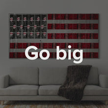 "Load image into Gallery viewer, American Flag Art Modern/Pop Culture Canvas Wall Art ""American Dream"" by IKONICK"