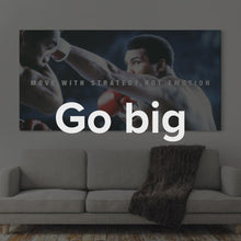 "Load image into Gallery viewer, ""Muhammad Ali - Move With Strategy"" Canvas Art by Ikonick"