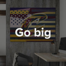 "Load image into Gallery viewer, Cleveland Cavaliers Flag, Motivation Modern Pop Art Basketball Canvas Art Cleveland Cavaliers Flag, Modern Pop Street Art Wall Canvas Decor ""Cleveland Cavaliers Flag"" by IKONICK"