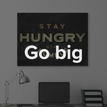 "Load image into Gallery viewer, Modern/Pop Culture Canvas Wall Art Quote Art ""Stay Hungry. Stay Humble."" by IKONICK"
