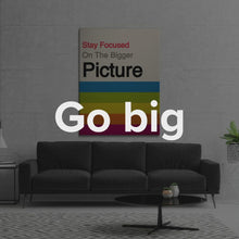 "Load image into Gallery viewer, Modern Motivational Quote Wall Art Canvas ""Bigger Picture"" by IKONICK"