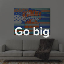 "Load image into Gallery viewer,  NBA New York Knicks Basketball Wall Art ""New York Knicks Flag"" By IKONICK"